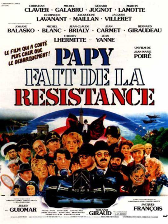 Papy fait de la résistance : affiche