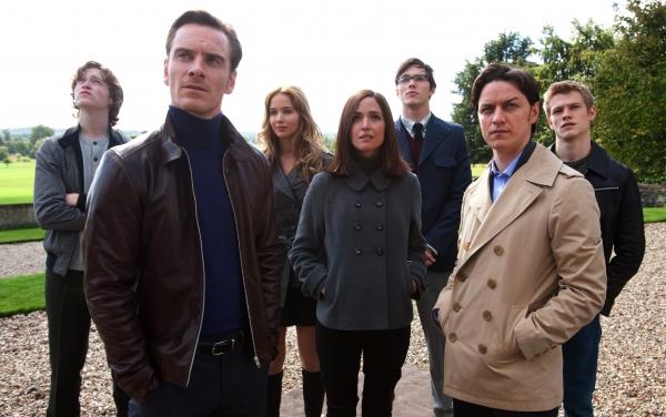 X-Men: Le Commencement : photo James McAvoy, Jennifer Lawrence, Matthew Vaughn, Michael Fassbender, Rose Byrne