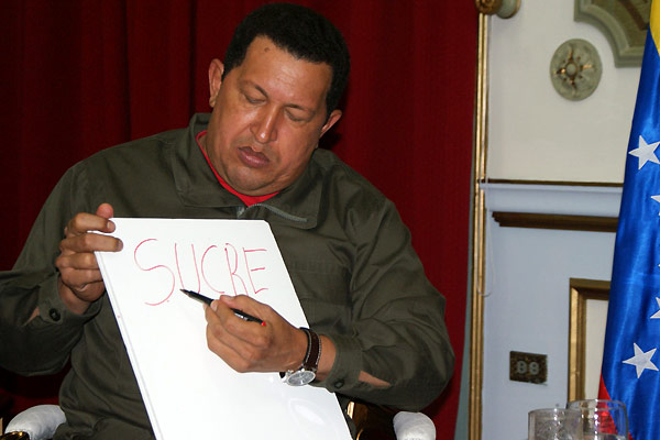 South of the Border : Photo Hugo Chavez, Oliver Stone