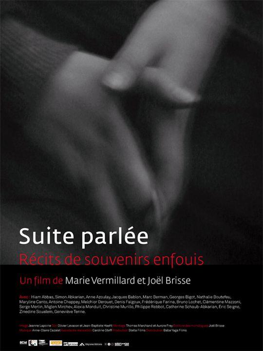 Suite parlée - récits de souvenirs enfouis : affiche Joël Brisse