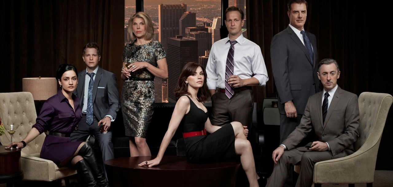 Photo Alan Cumming, Archie Panjabi, Chris Noth, Christine Baranski, Josh Charles