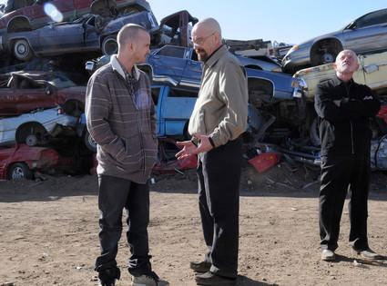 Photo Aaron Paul, Bryan Cranston, Jonathan Banks