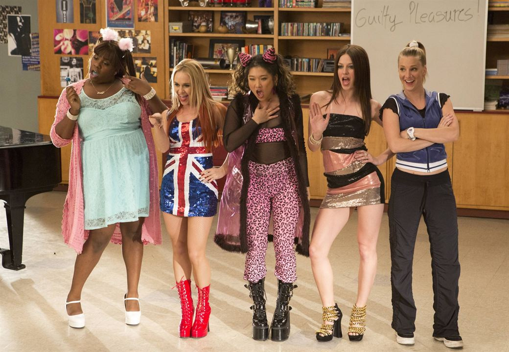 Photo Alex Newell, Becca Tobin, Heather Morris, Jenna Ushkowitz, Melissa Benoist