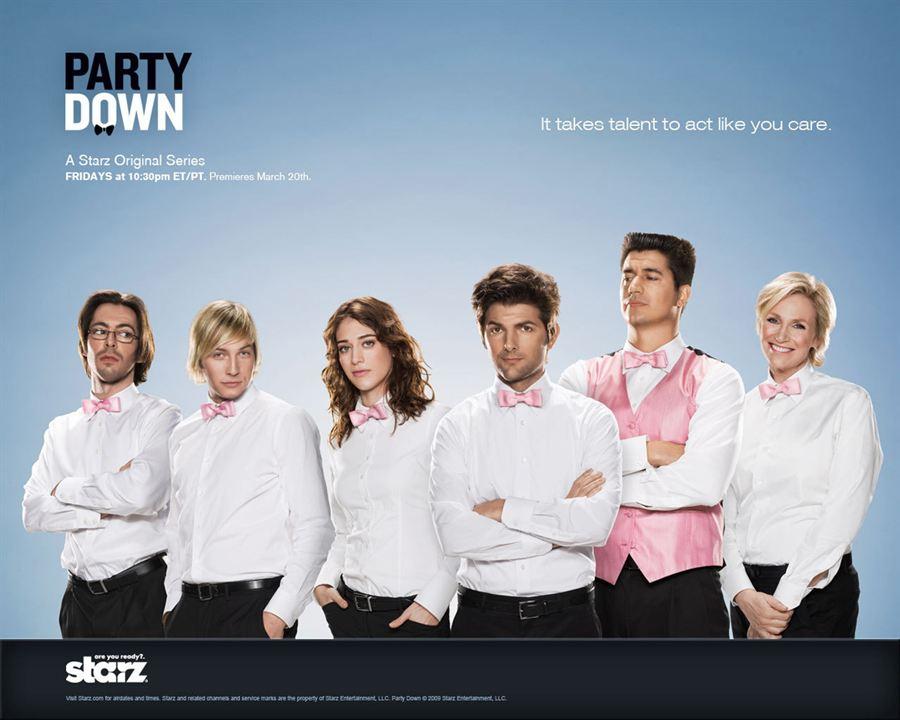 Party Down : Photo Adam Scott, Jane Lynch, Ken Marino, Lizzy Caplan, Martin Starr