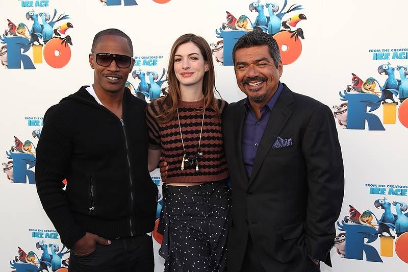 Rio : Photo Anne Hathaway, Carlos Saldanha, Jamie Foxx