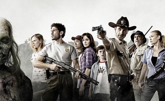 The Walking Dead : Photo Andrew Lincoln, Chandler Riggs, Emma Bell, Jeffrey DeMunn, Jon Bernthal