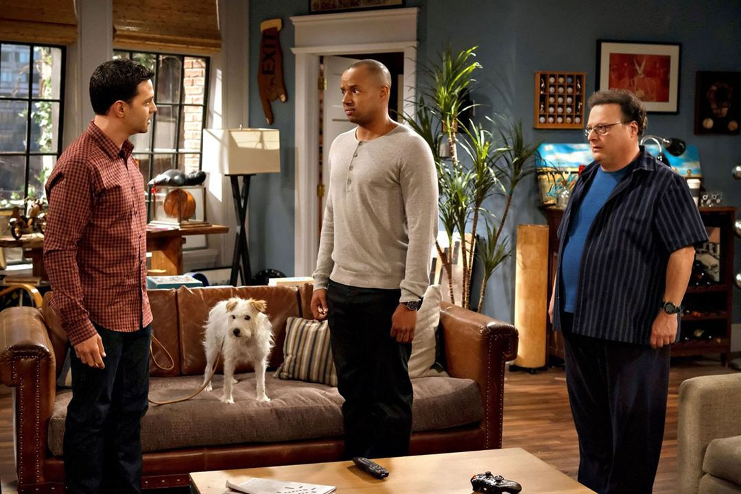 Photo David Alan Basche, Donald Faison, Wayne Knight