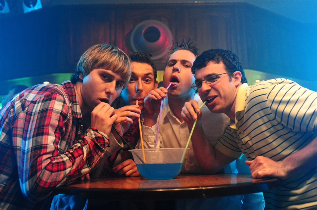 Les Boloss : Photo Ben Palmer, Blake Harrison, James Buckley, Joe Thomas (XIX), Simon Bird