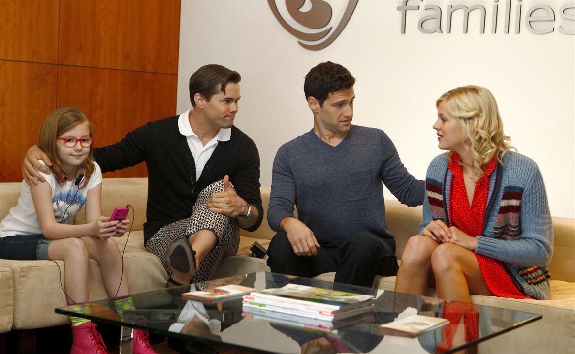 Photo Andrew Rannells, Bebe Wood, Georgia King, Justin Bartha