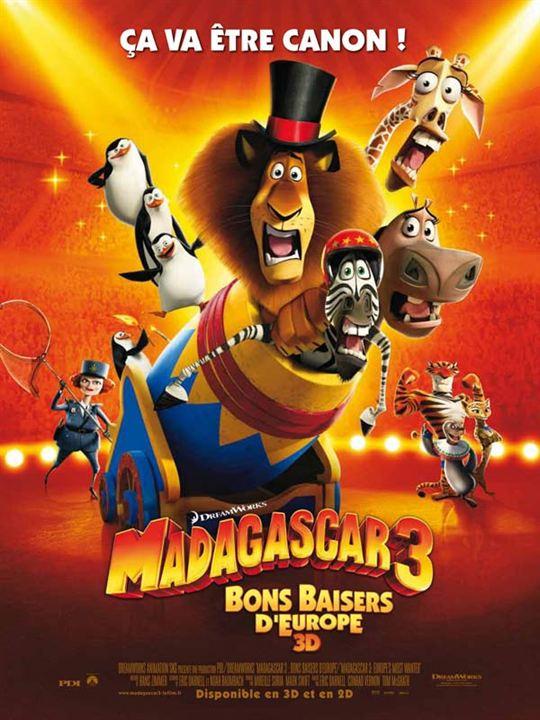Madagascar 3, Bons Baisers D'Europe : Affiche