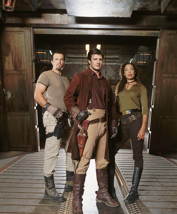 Firefly : Photo Adam Baldwin, Gina Torres, Nathan Fillion