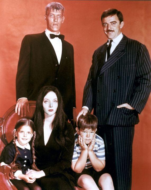 La Famille Addams : Photo Carolyn Jones, John Astin, Ken Weatherwax, Lisa Loring, Ted Cassidy