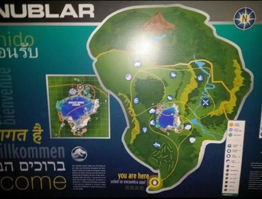 L'île de Nublar vision globale