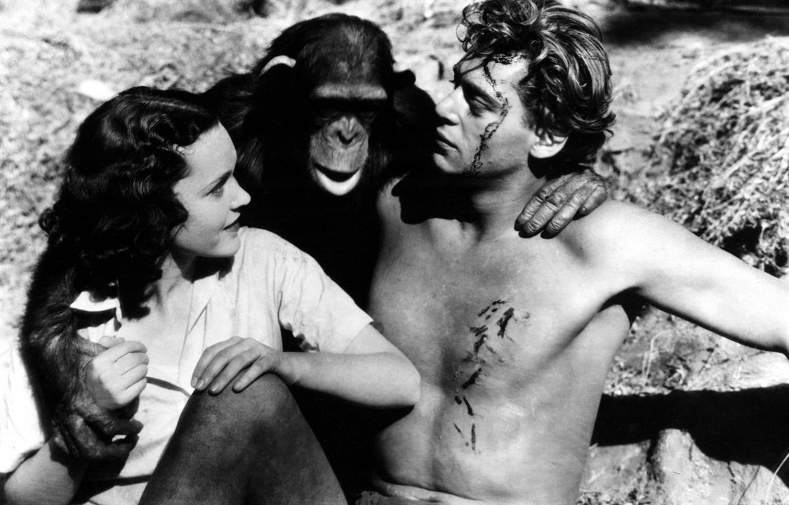 Cheeta, Johnny Weissmuller et Maureen O'Sullivan