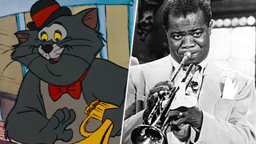 Scat Cat (Les Aristochats), inspiré par Louis Armstrong