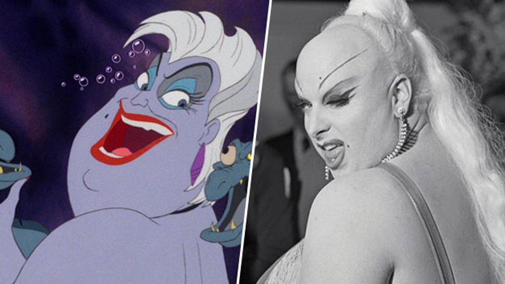 Ursula (La petite sirène), inspirée par Divine