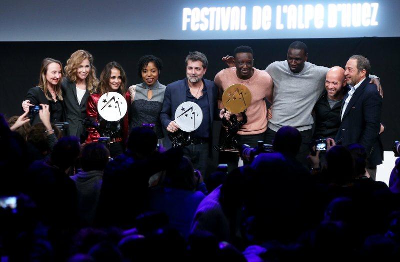L'équipe de L'Ascension avec le jury du Festival de l'Alpe d'Huez
