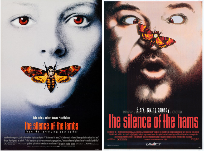 Le Silence des agneaux (1991) Vs Le silence des jambons (1994)