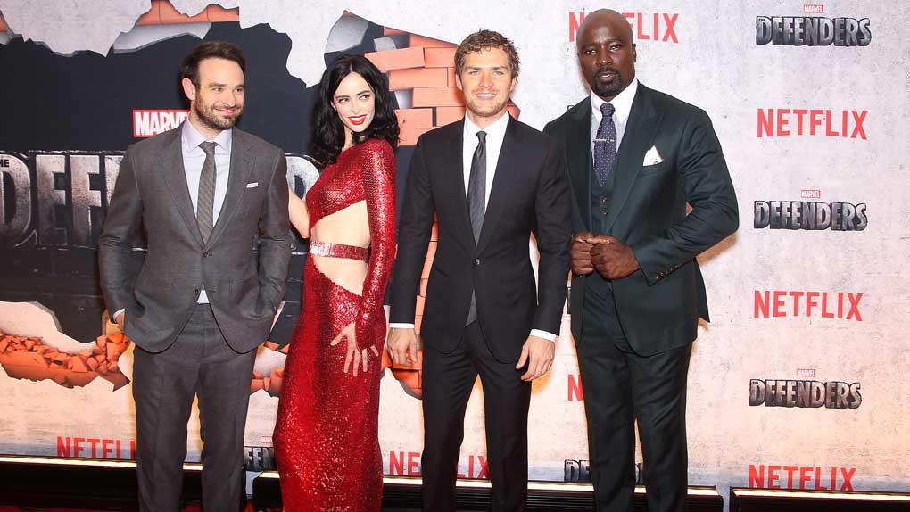 Daredevil, Jessica Jones, Iron Fist et Luke Cage à l'avant-première de Marvel's Defenders