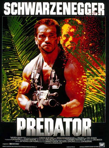 Predator : l'affiche française du film, sorti le 19 août 1987