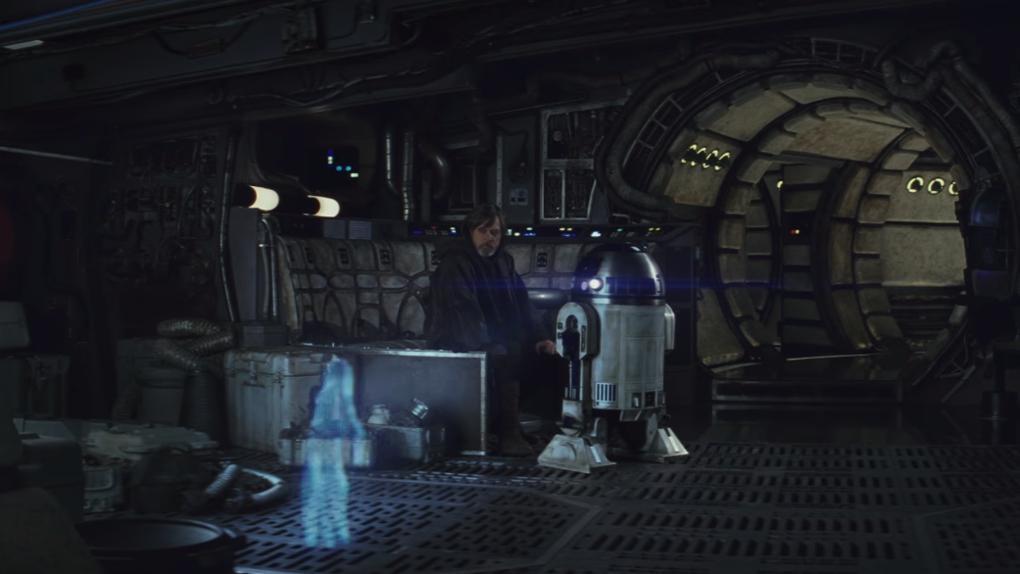 L'hologramme de Leia