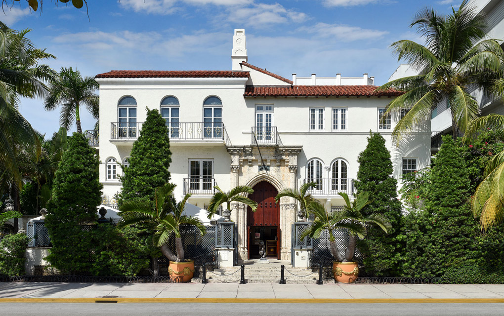 Facade actuelle de la villa Casa Casuarina, transformée en hôtel de luxe