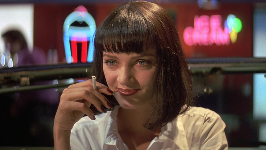 "Uma Thurman dans ""Pulp Fiction"" (1994)"