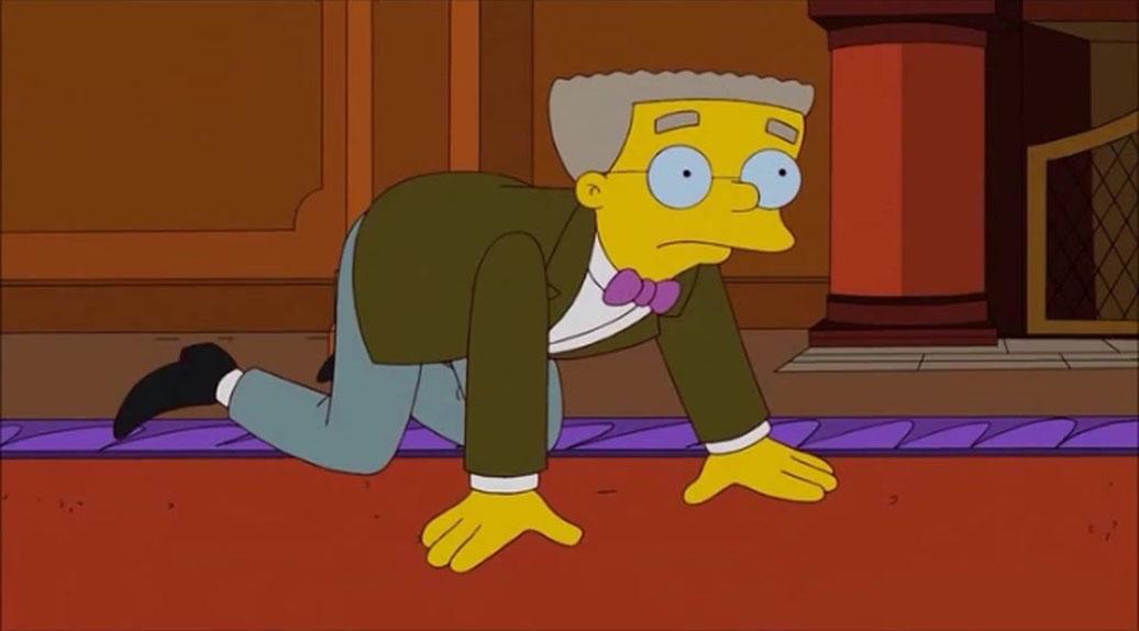 Le plus lèche-botte : Smithers dans Les Simpson