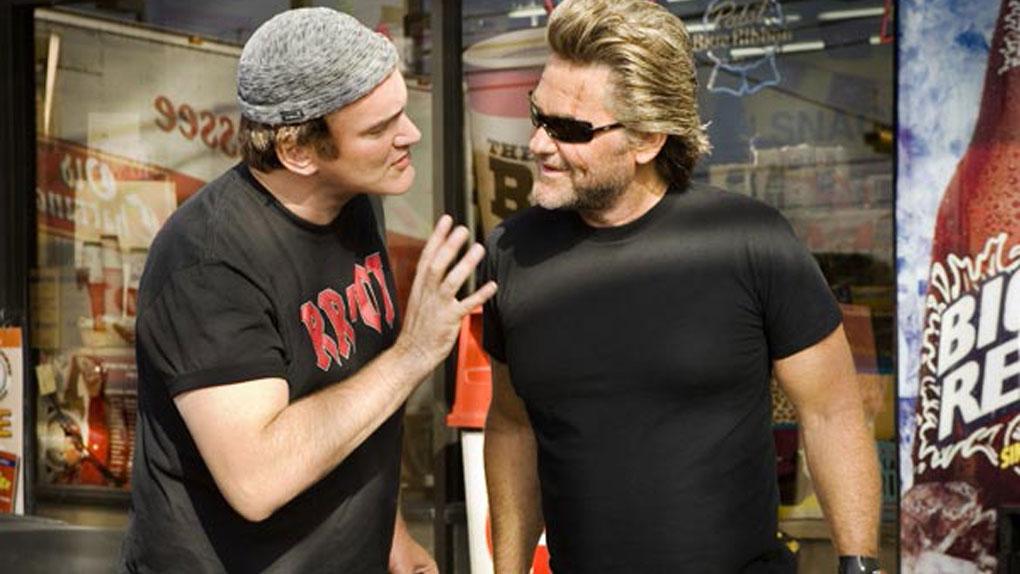 Quentin Tarantino sur le tournage de Boulevard de la mort