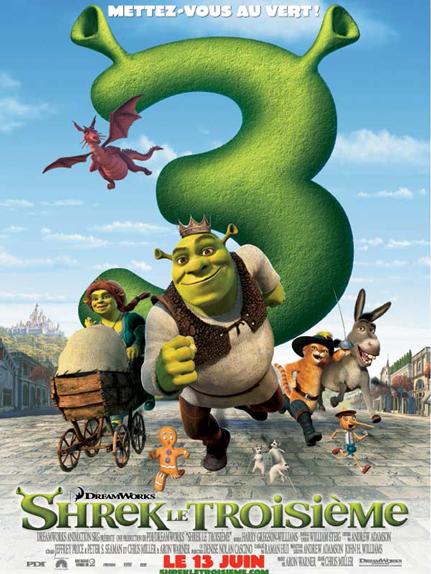 N°3 - Shrek le troisième : 121,6 millions de dollars de recettes