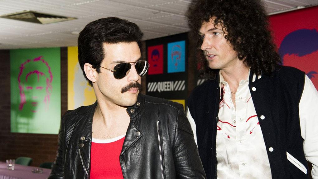 Rami Malek et Gwilym Lee dans Bohemian Rhapsody