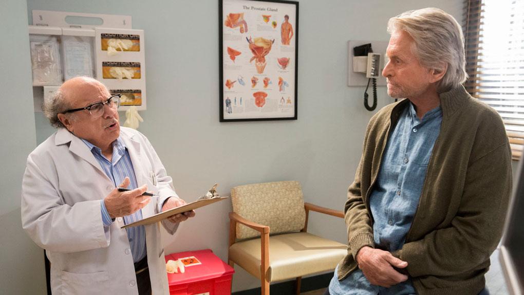 Michael Douglas (Sandy) et Danny DeVito (son docteur)