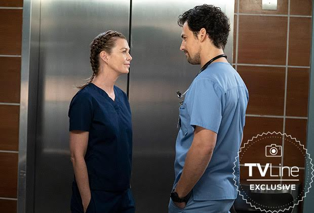 Meredith & DeLuca coincés dans un ascenseur...