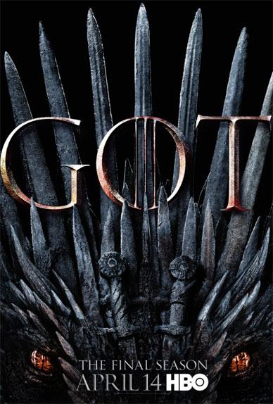 Drogon se cache sous le Trône de Fer dans la nouvelle affiche de la saison 8