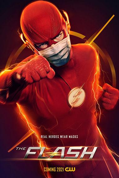 Flash (Grant Gustin) met son masque