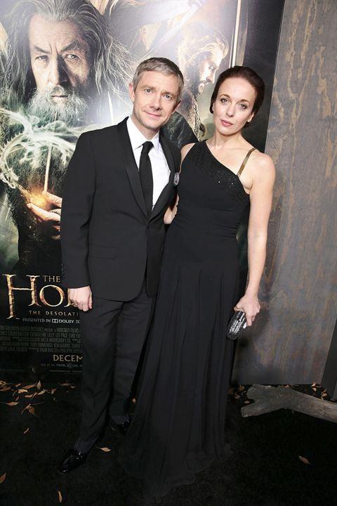 Le Hobbit : la Désolation de Smaug : Photo promotionnelle Amanda Abbington, Martin Freeman