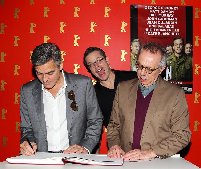 Monuments Men : Photo promotionnelle George Clooney, Matt Damon
