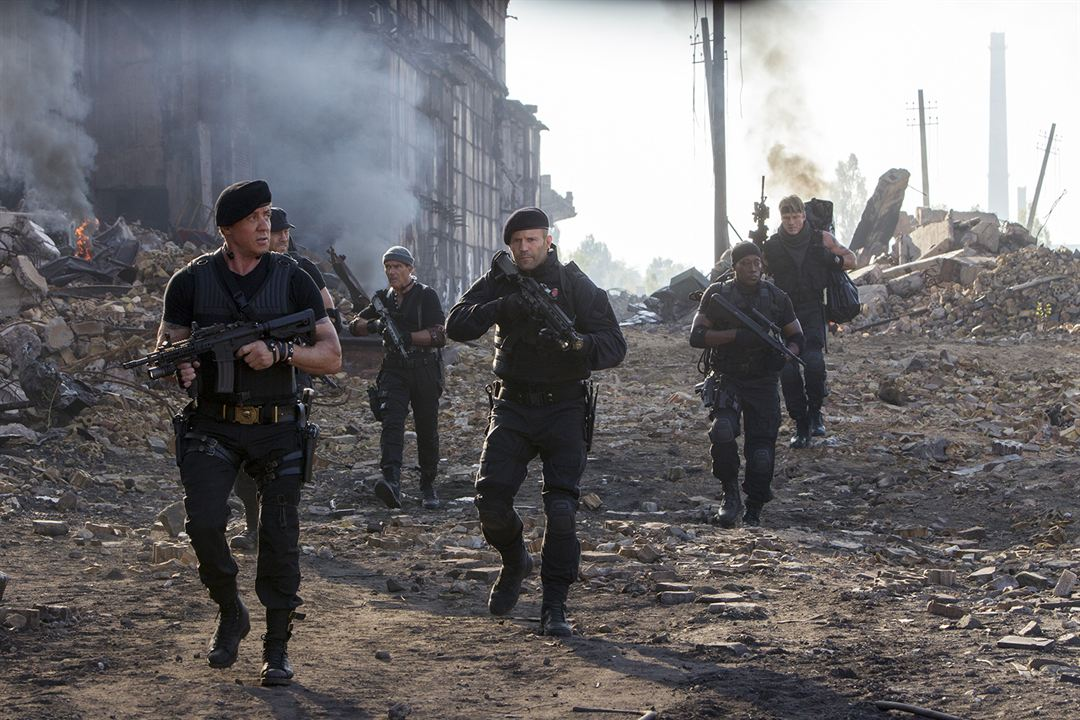 Expendables 3 : Photo Antonio Banderas, Dolph Lundgren, Jason Statham, Sylvester Stallone, Wesley Snipes