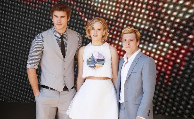 Hunger Games - La Révolte : Partie 1 : Photo promotionnelle Jennifer Lawrence, Josh Hutcherson, Liam Hemsworth