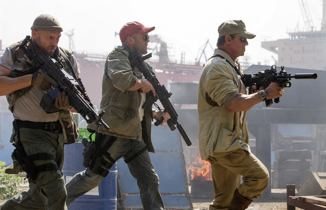 Expendables 3 : Photo Jason Statham, Randy Couture, Sylvester Stallone