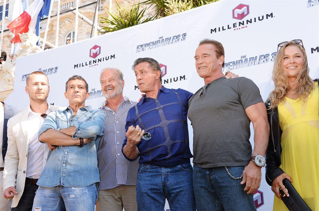 Expendables 3 : Photo promotionnelle Antonio Banderas, Arnold Schwarzenegger, Kellan Lutz, Kelsey Grammer, Sylvester Stallone