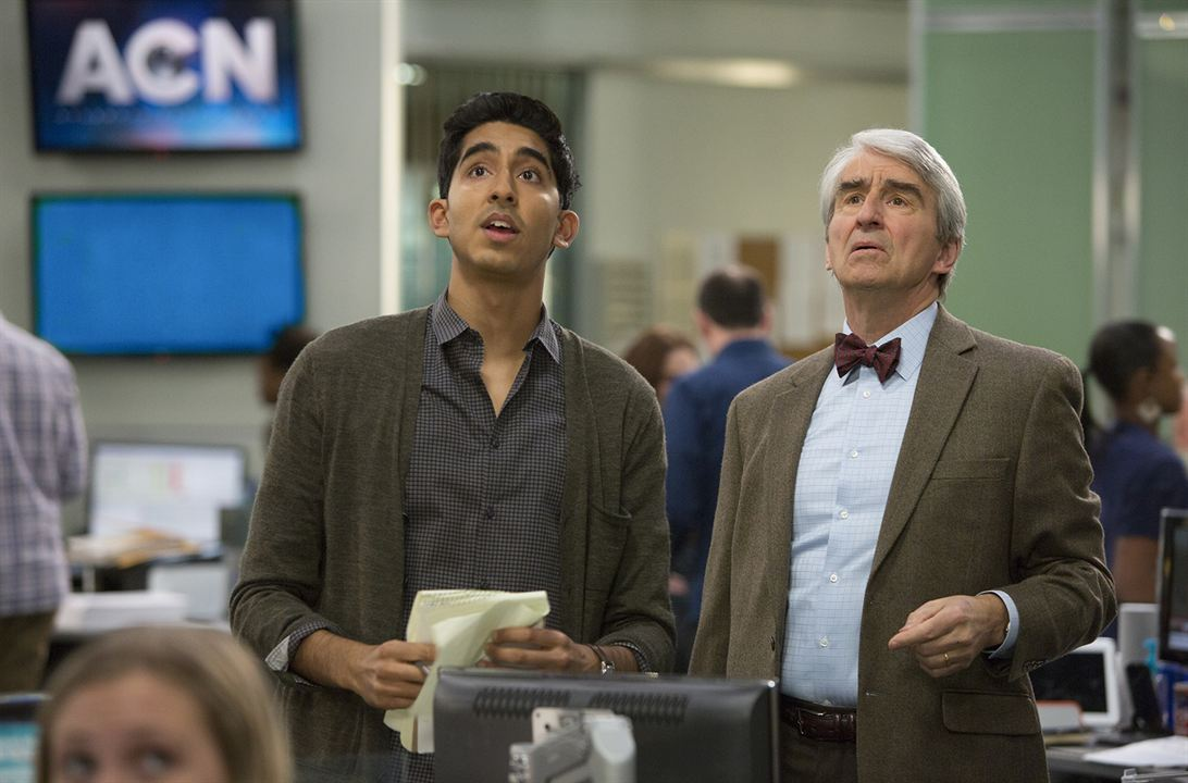 Photo Dev Patel, Sam Waterston