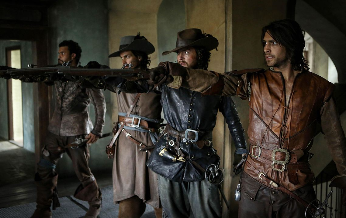 Photo Howard Charles, Luke Pasqualino, Santiago Cabrera, Tom Burke