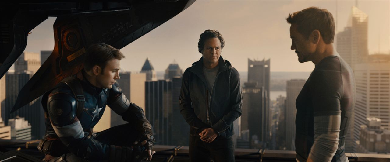 Avengers : L'ère d'Ultron : Photo Chris Evans, Mark Ruffalo, Robert Downey Jr.