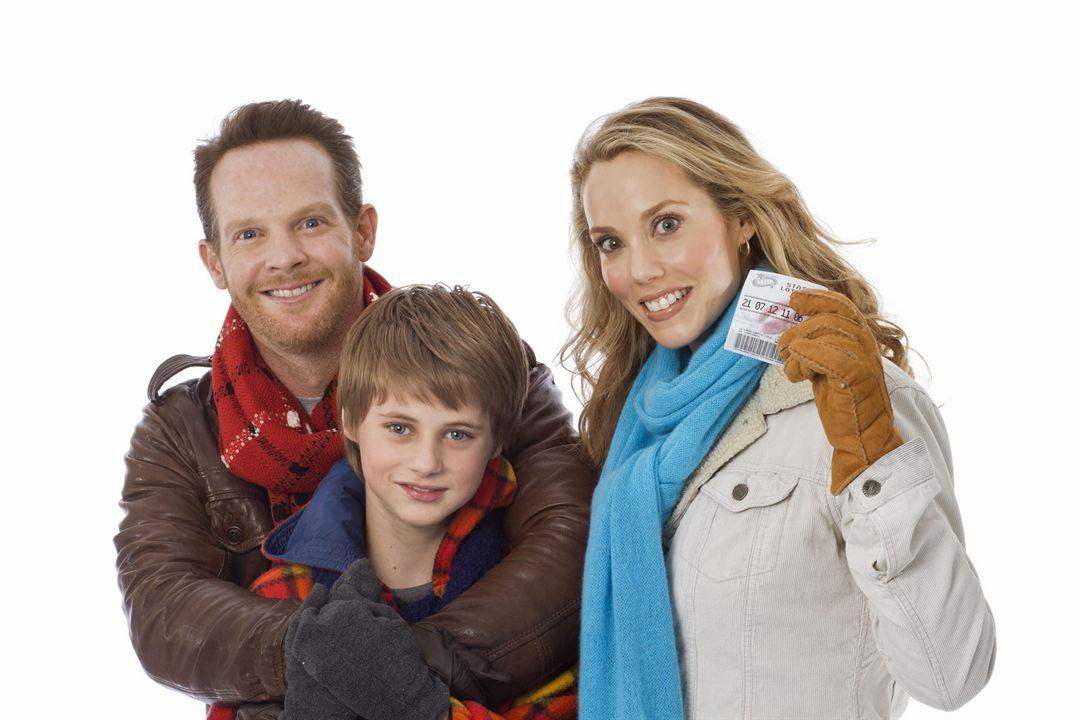 Un ticket gagnant pour Noël (TV) : Photo Elizabeth Berkley, Jason Gray-Stanford, Mitchell Kummen