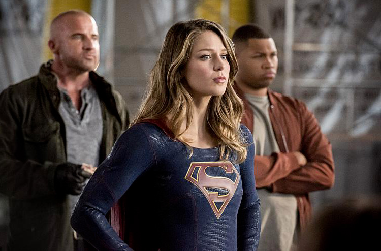 Photo Dominic Purcell, Franz Drameh, Melissa Benoist