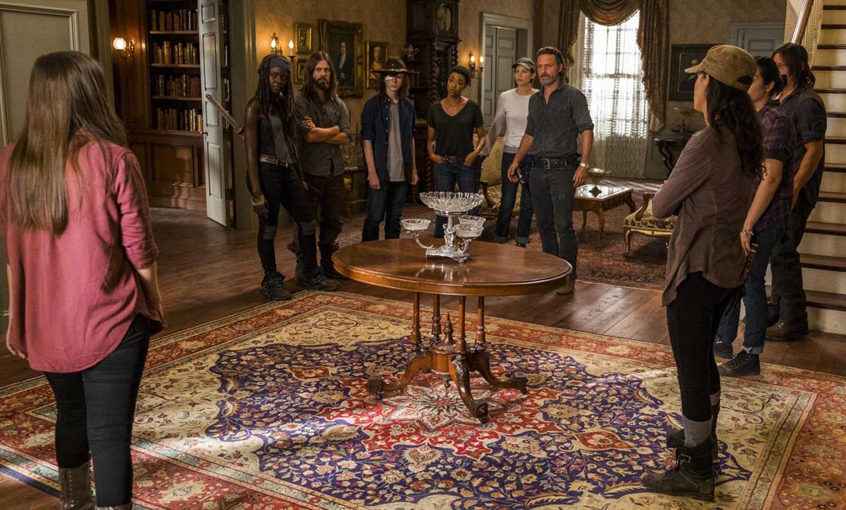Photo Alanna Masterson, Andrew Lincoln, Chandler Riggs, Christian Serratos, Danai Gurira