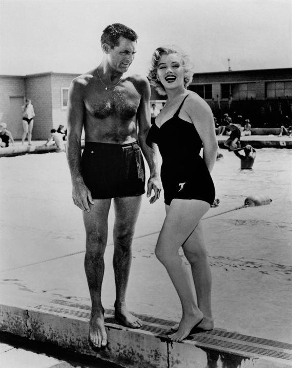 Chérie je me sens rajeunir : Photo Cary Grant, Marilyn Monroe