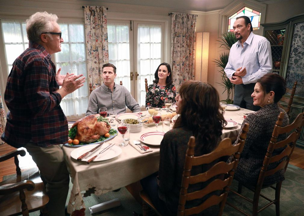 Photo Andy Samberg, Bertila Damas, Bradley Whitford, Jimmy Smits, Melissa Fumero