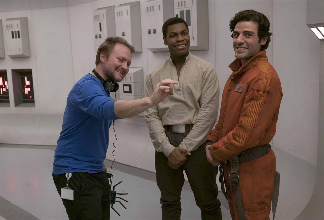 Star Wars - Les Derniers Jedi : Photo John Boyega, Oscar Isaac, Rian Johnson